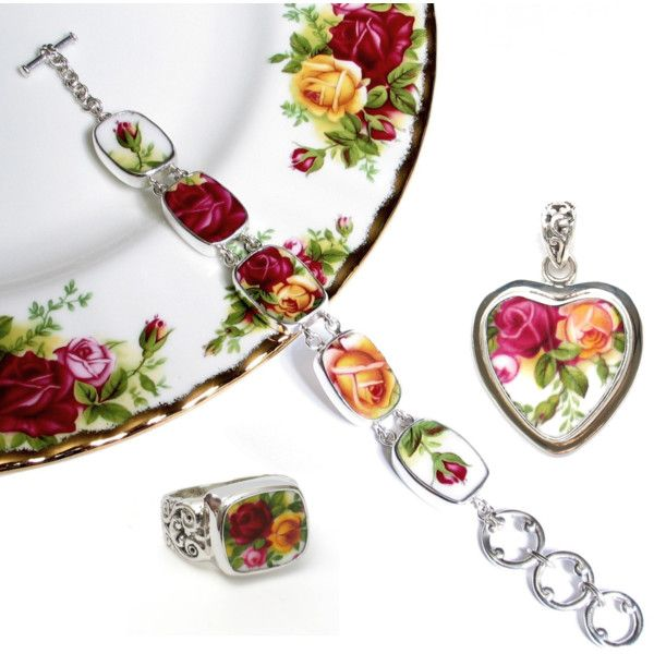 Old_Country_Roses_broken_china_jewelry