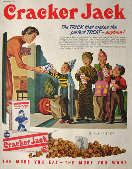 Vintage Halloween Ads.Vintage Halloween Candy Advertisements
